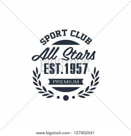 Classic Sport All Stars  Black And White Vintage Design Isolated On White Background Vector Print