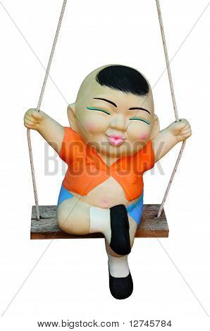 child clay Doll Swing ride