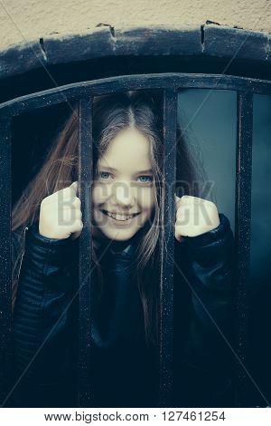 Teen Cute Girl Outdoor