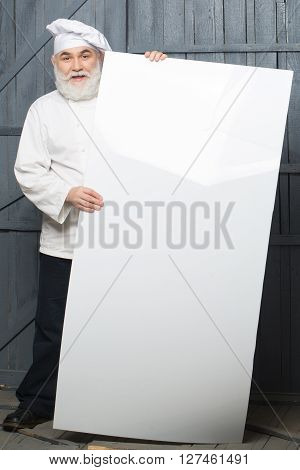 Cook With Big Paper Sheet