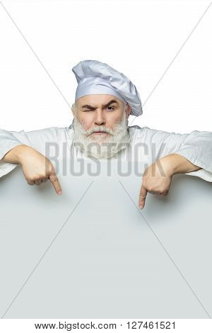 Isolated Cook With Paper