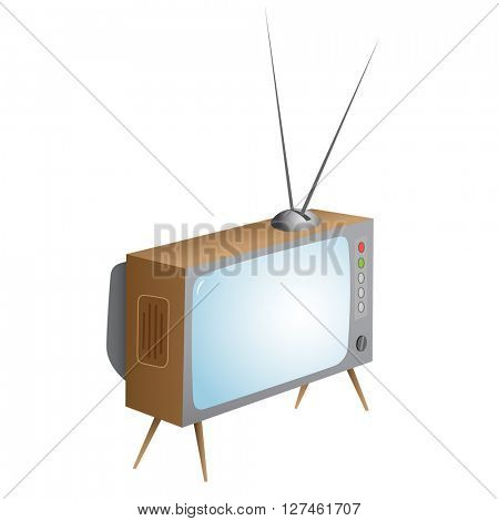 retro TV. Vector illustration. Isolated on white background.