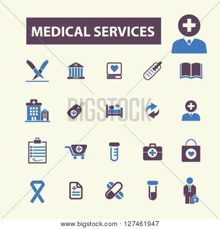 medical services icons
