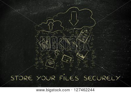 Store Your Files Securely, Cloud With Document & Code Rain