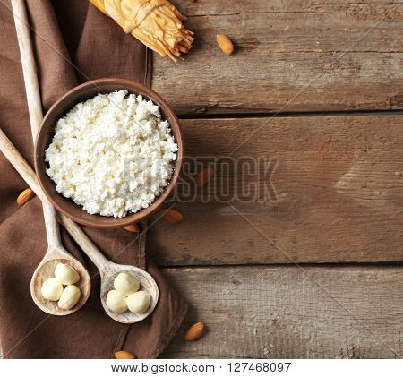 Conception of dairy food on table