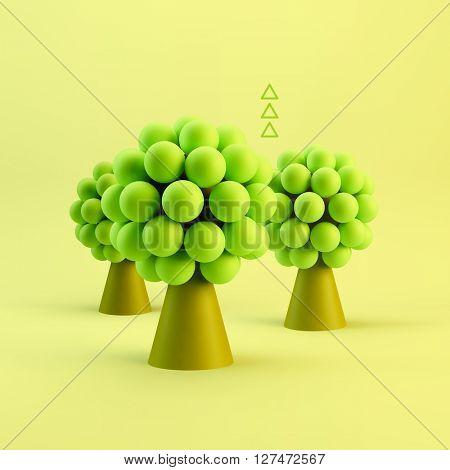 Business concept illustration. Leadership 3D vector illustration.