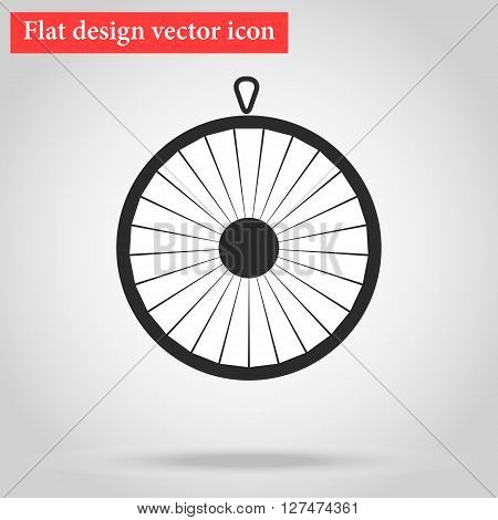 Wheel of fortune circle icon flat.vector illustration