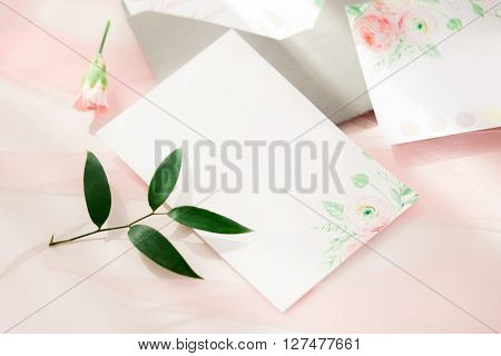 Workspace. Wedding Invitation Cards.