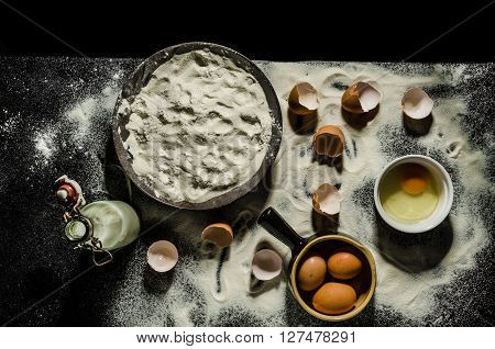 Table Cooks Preparing Dough