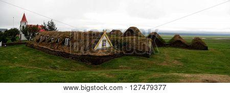Traditional Icelandic turf farm in Glaumbær (Skagafjörður)