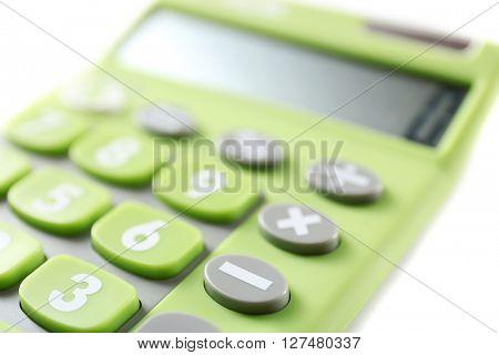 Calculator, closeup