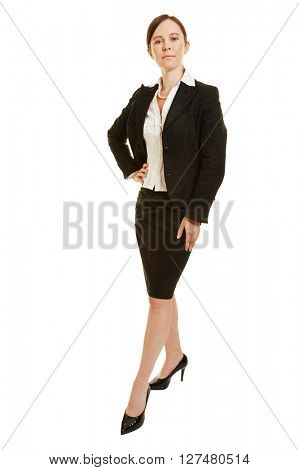 Attractive woman as successful lawyer in a business suit