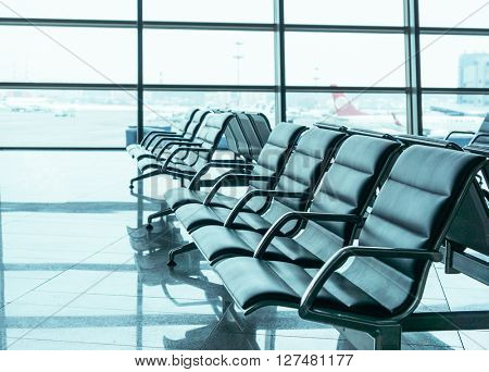 airport waiting area seats