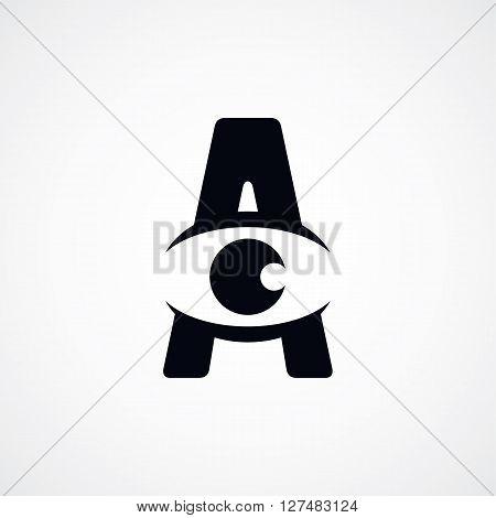 Letter A Logotype Logo Sign Theme