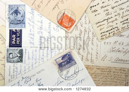 Old Postcards And Hand Writing