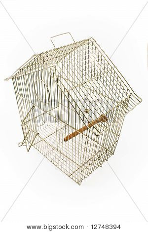 Empty Bird Cage With Opened Door