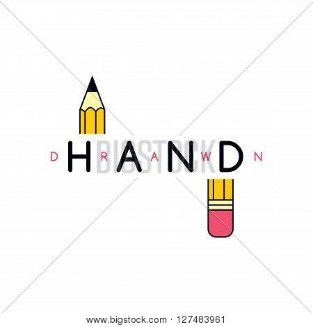 pencil draw icon theme vector art illustration