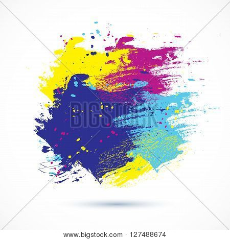 Vector watercolor background. Colorful abstract texture. Vector design elements. Grunge background. Vector watercolor splash.