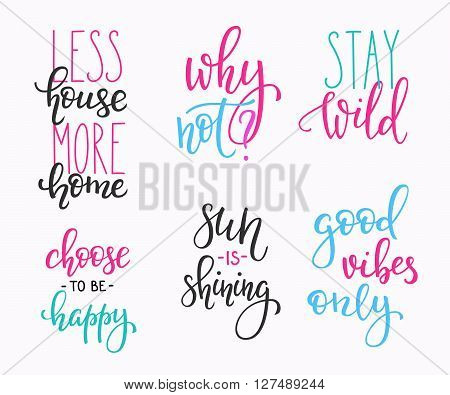 Lettering Vector Postcard Quotes Vector Photo Bigstock