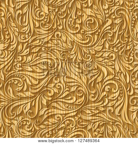 Carved wooden tracery. A seamless pattern background
