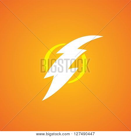 thunder bolt sign theme vector art illustration