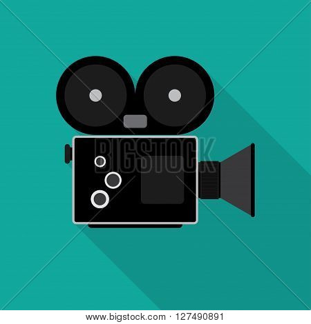 The video camera icon. Camcorder symbol. Flat Vector illustration