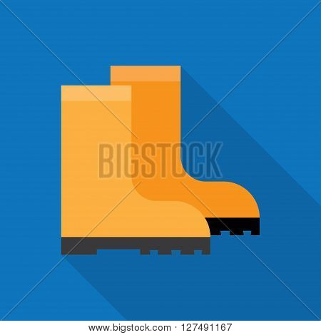 Rubber boots rubber boots isolated yellow rubber boots