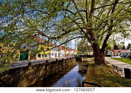 Town of Samobor river and park view northern Croatia