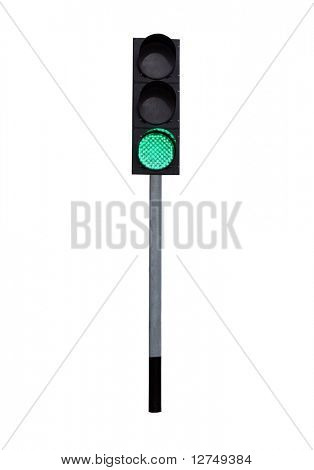 traffic light isolated on the white background