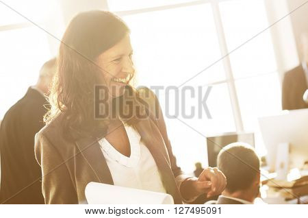 Businesswoman Leader Discussion Colleague Working Concept