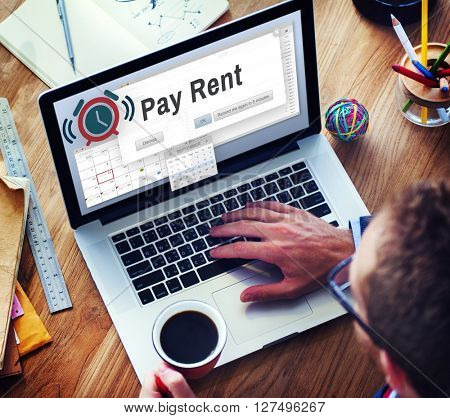 Pay Rent Lease Real Estate Renting Available Concept