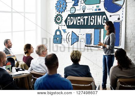 Advertising Marketing Business Strategy Concept
