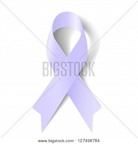 Lavender ribbon as symbol of epilepsy craniosynostosis and cancer awareness