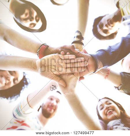 Diversity People Fun Bonding Friendship Moment Concept