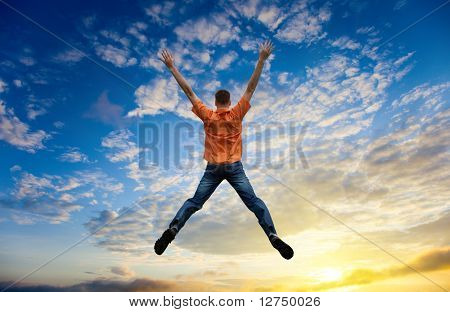 jovem de salto