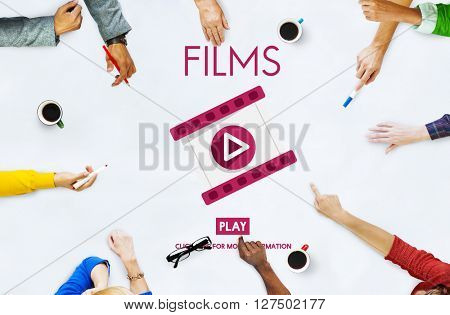 Films Multimedia Entertainment Cinematography Concept