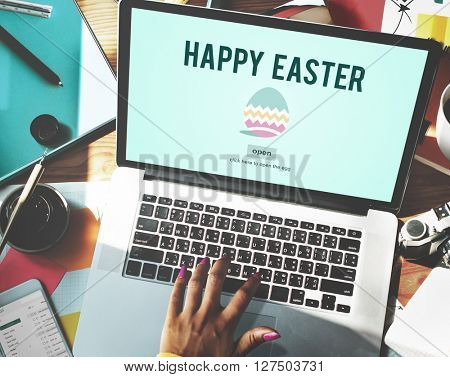 Easter Holiday Celebration Webpage Concept