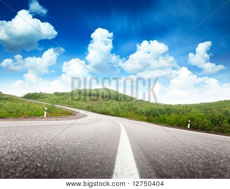 summer day and road