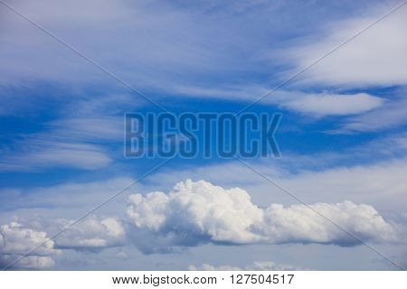 Beautiful idyllic skyscape with white clouds