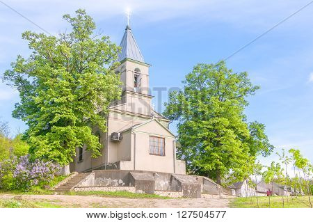 traditional orthodox church in village Varzaresti from Moldova