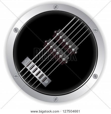 Air Guitar Circular Metallic Border with Screws