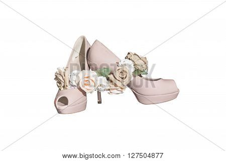 image of women's shoes isolated on white background