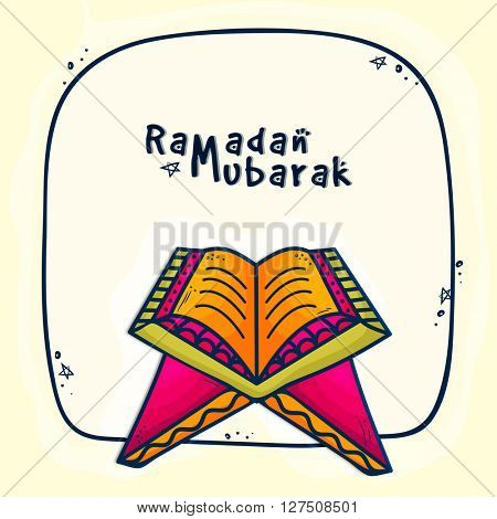 Islamic Religious Book, Quran Shareef for Holy Month of Muslim Community, Ramadan Kareem celebration.