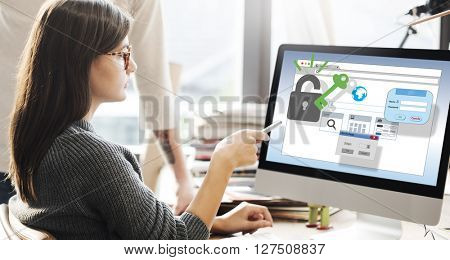 Web Security Internet Protection Safety Concept