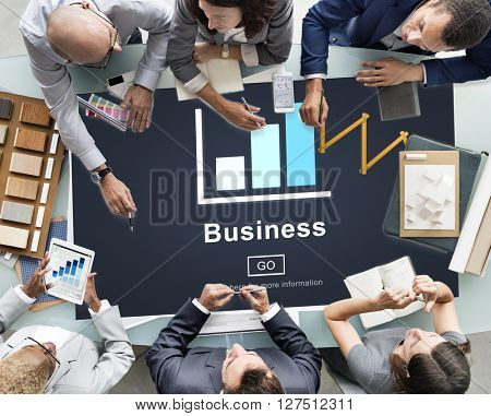 Business Bar Graph Strategy Planning Concept