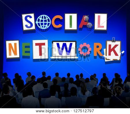 Social Network Communication Connection Technology Concept