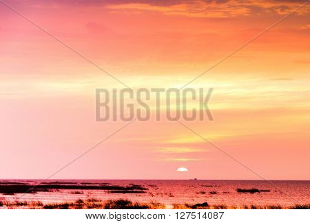 Sunset in the Sky Idyllic Backdrop