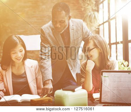 Business Team Meeting Discussion Ideas Concept