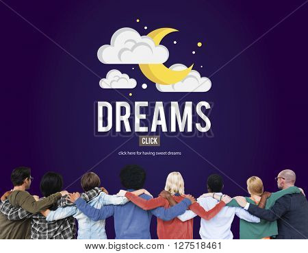 Dreams Goal Target Aspirations Inspiration Expectation Concept