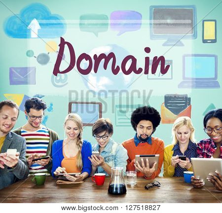 Domain Name Internet Online Network Connection Concept